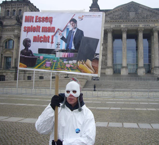 Demonstration vor dem Bundestag